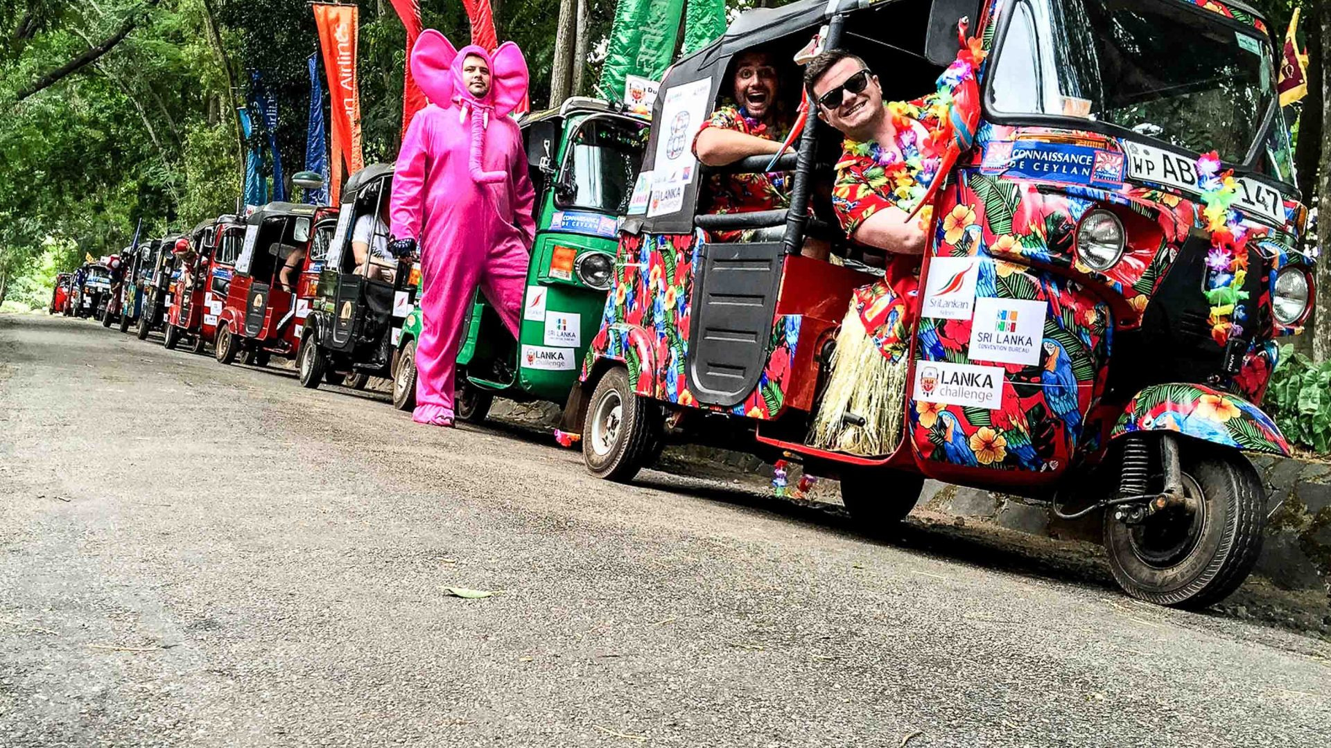 Day one of the Lanka Challenge sees challengers dress up in their wackiest fancy dress.