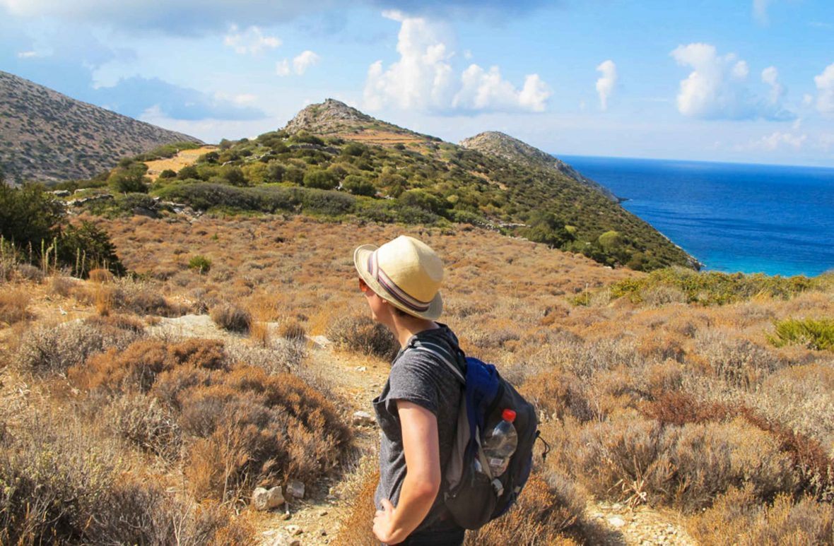 Adventures 2018: Hiking through the hills of Greece with No Footprints tours.