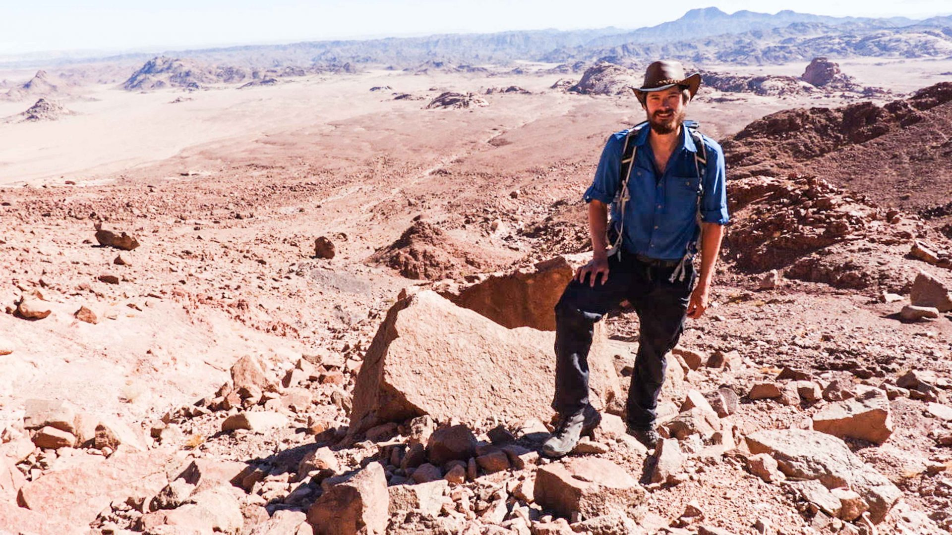Leon McCarron in the Sinai Mountains in Egypt.