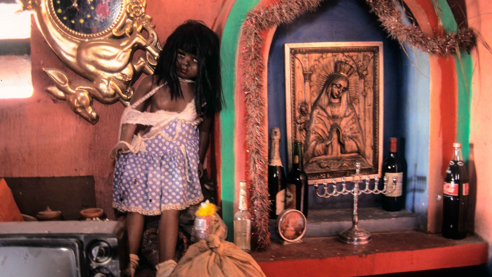 Altar for Ezili Freda and La Siren at the temple of Andre Pierre, Vodou Priest and artist, Pont Rouge, near Port-au-Prince, Haiti.