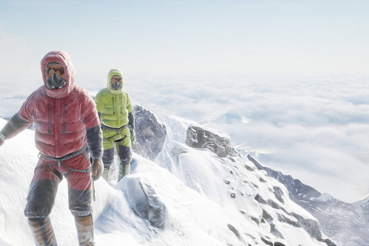 Everest VR enables users to simulate what it would be like to climb Mount Everest.