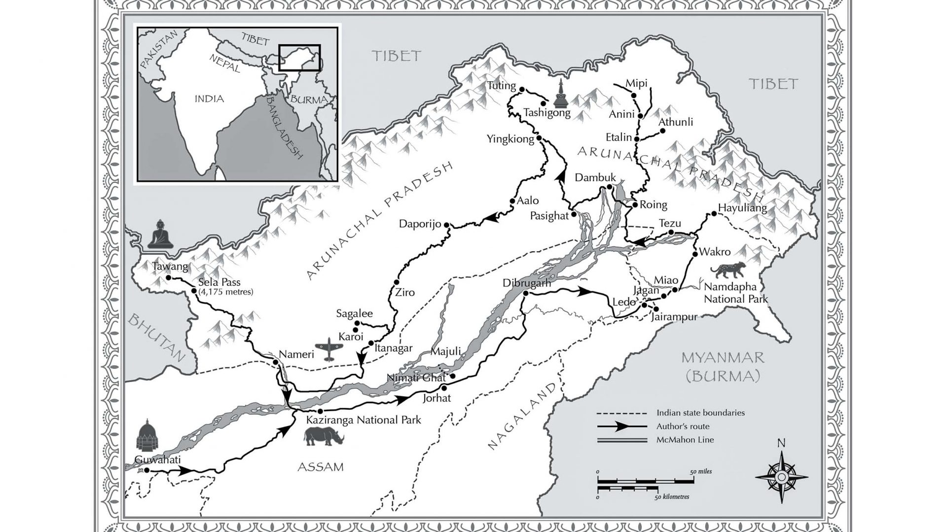 A map shows the region of Arunachal Pradesh in northeastern India.