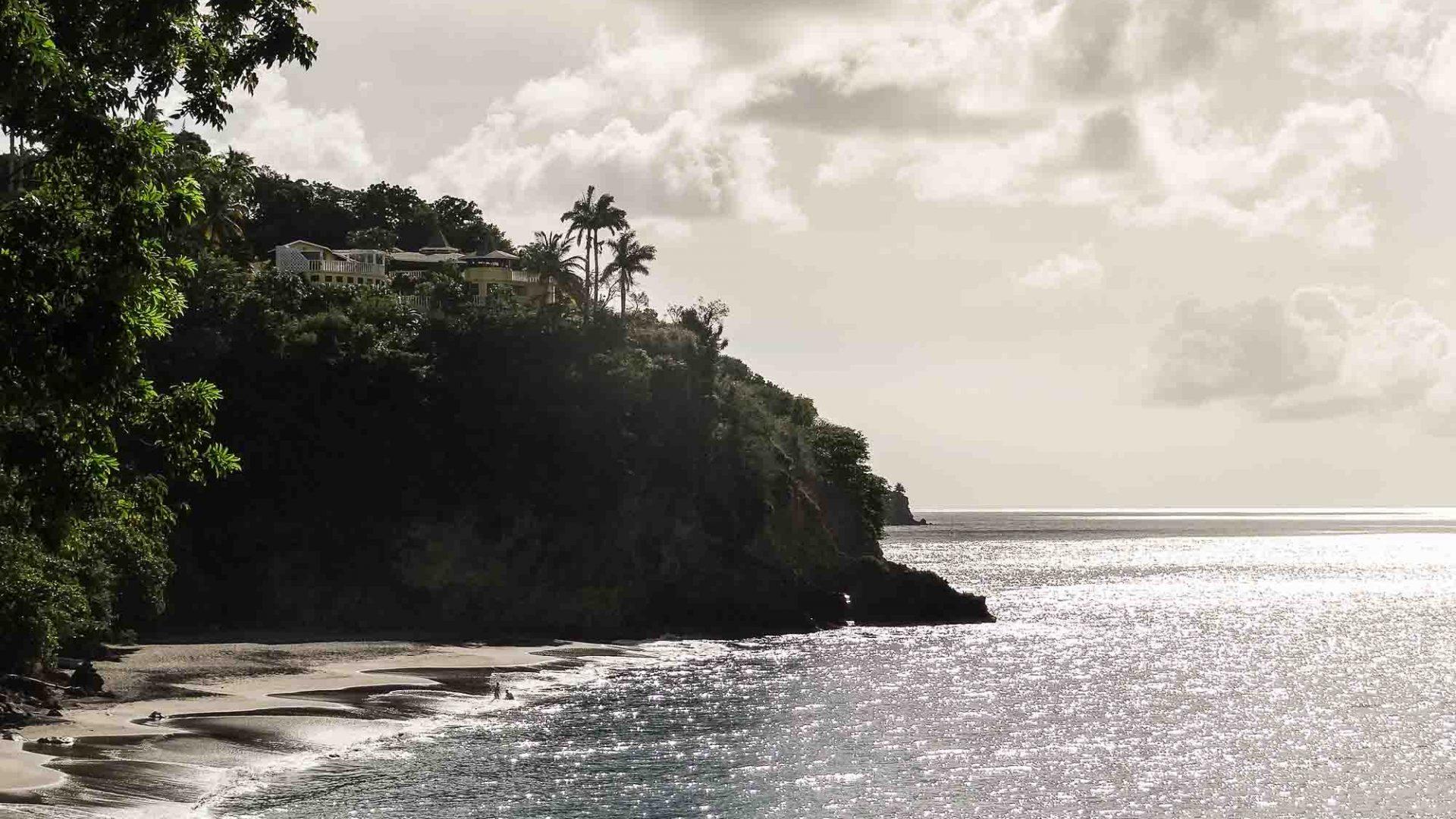 A beach in Montserrat, Caribbean.