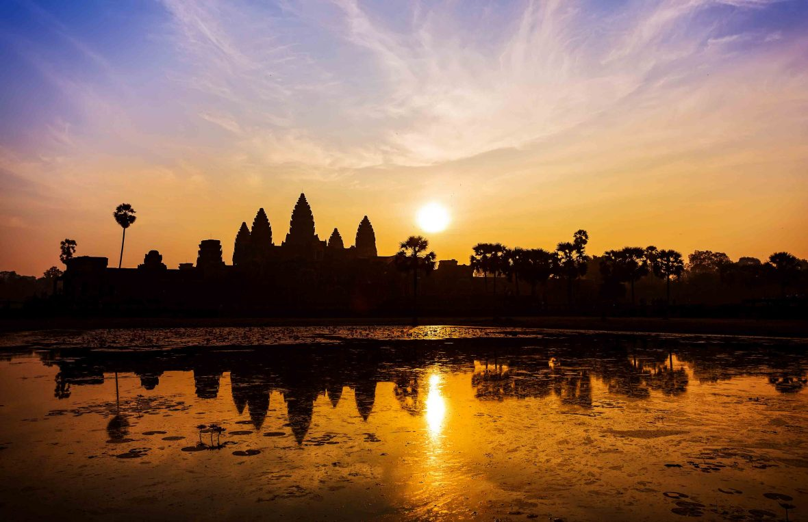 Sunrise at Angkor Wat is a sight not to miss.