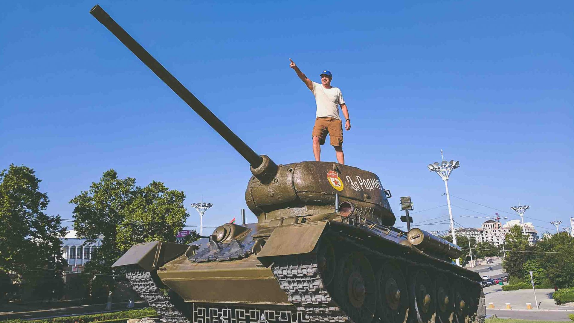 Standing atop a tank for a photo opp could get your arrested in Transnistria, according to one local.