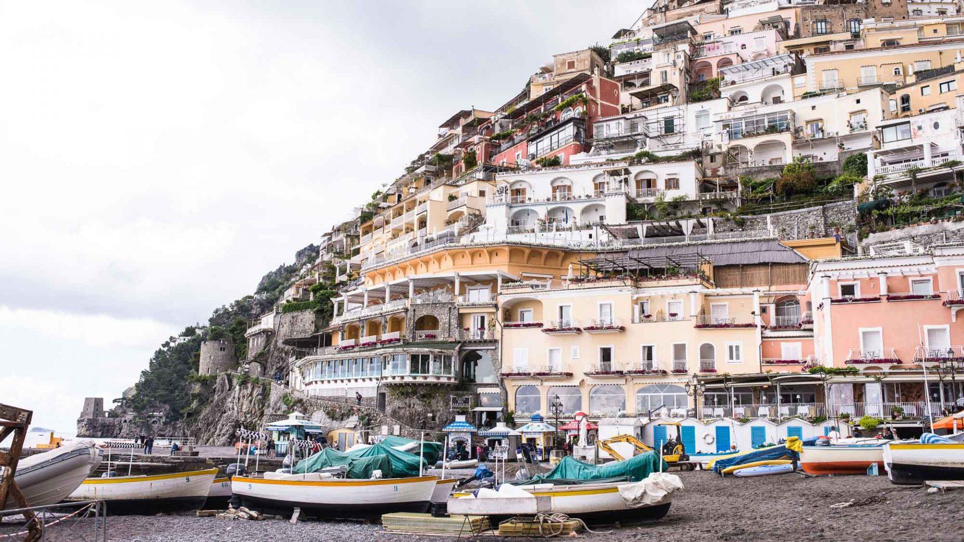 Positano on Italy's much-loved Amalfi Coast.