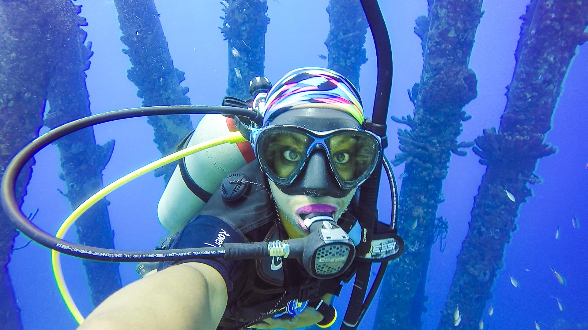Kellee Edwards, a pilot, scuba diver, and adventurer, explores remote islands for Travel Channel on her own show, Mysterious Islands.