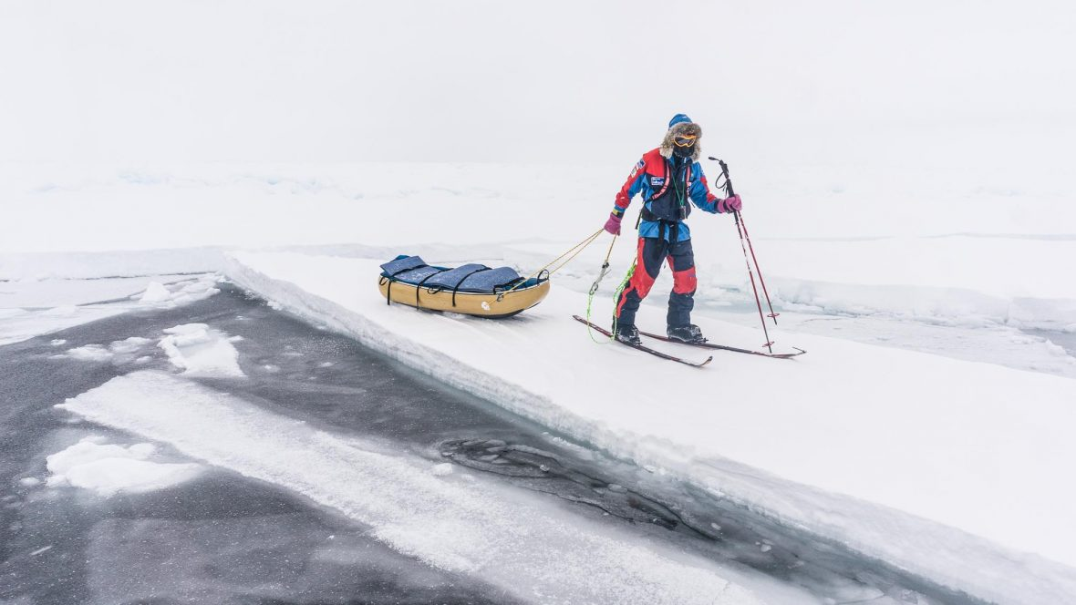 Eric Larsen during the last North Pole Expedition in 2014.