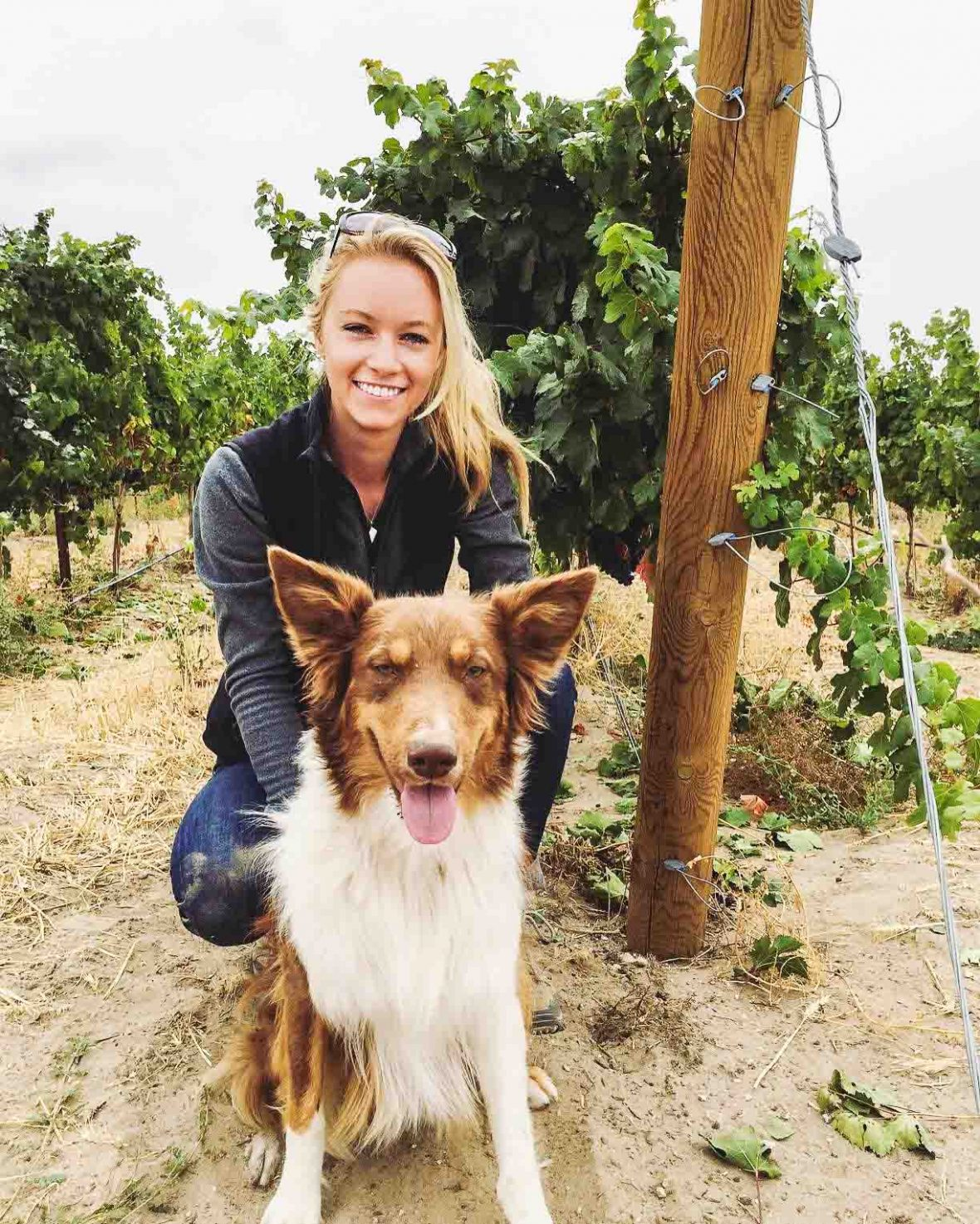 Sydney Nederend at her winery in Idaho.