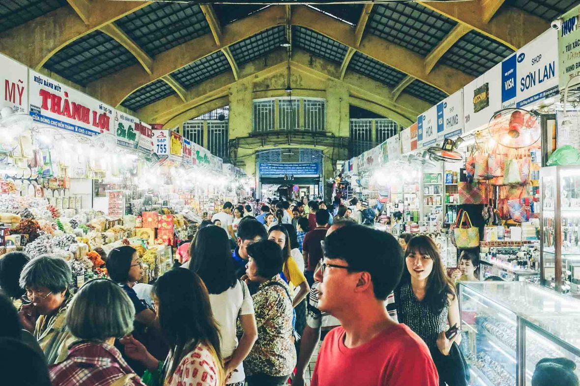 Bến Thành Market in Ho Chi Minh City, Vietnam, is a great place to practise ethical haggling.