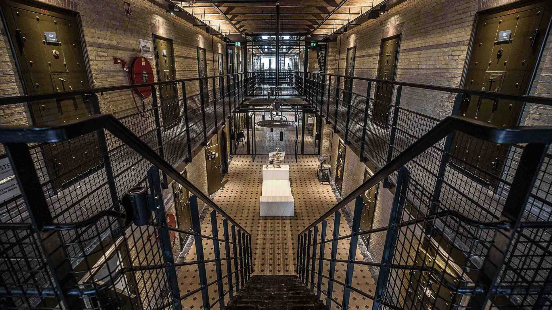 Inside Blookhuispoort arts and culinary center in what was the town prison.