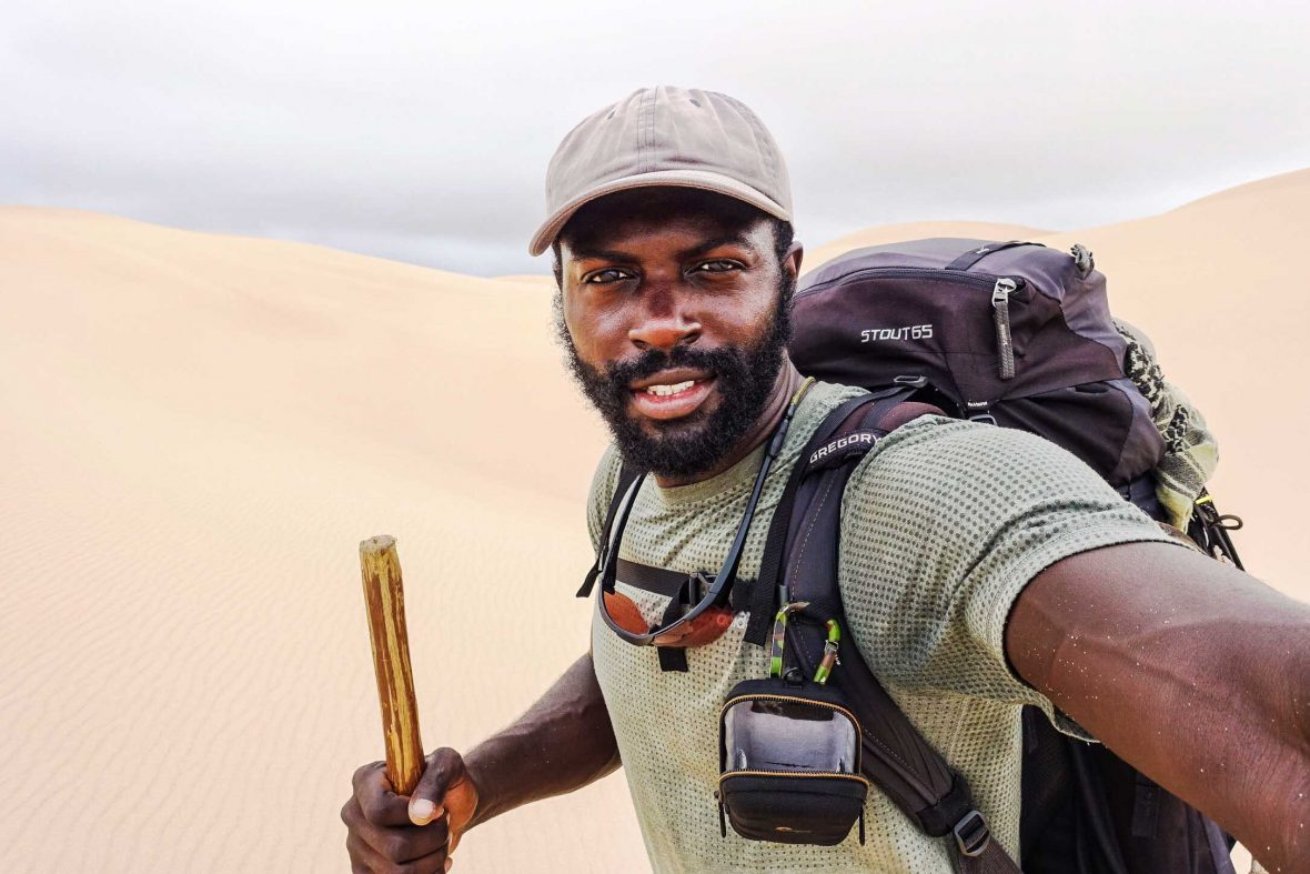Turks and Caicos-born adventurer Mario Ridgy completed a two-year, 7,000-mile trek by foot and kayak from Cape Town to Cairo in 2018.