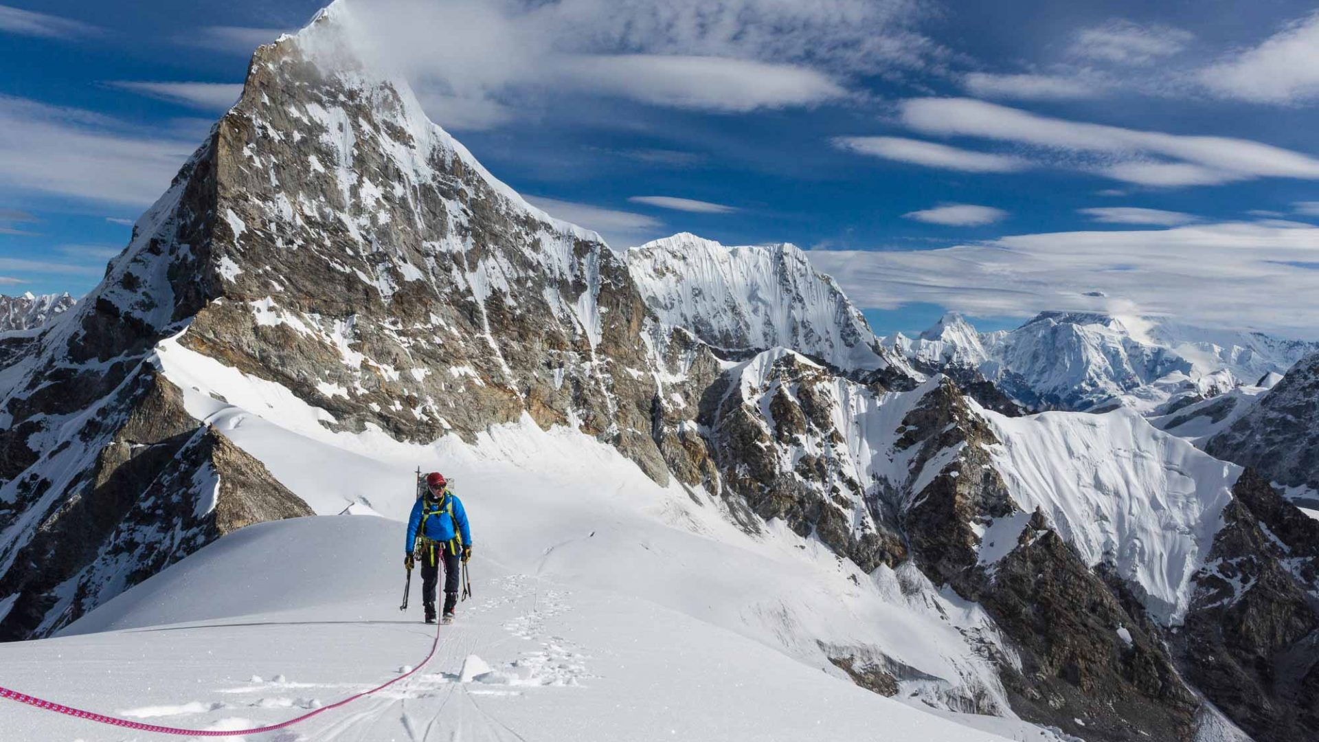 Larsen and Ryan Waters became the first to ascend the peak of Nepal's Jabou Ri, a Himalayan peak in an area only recently opened to climbers.