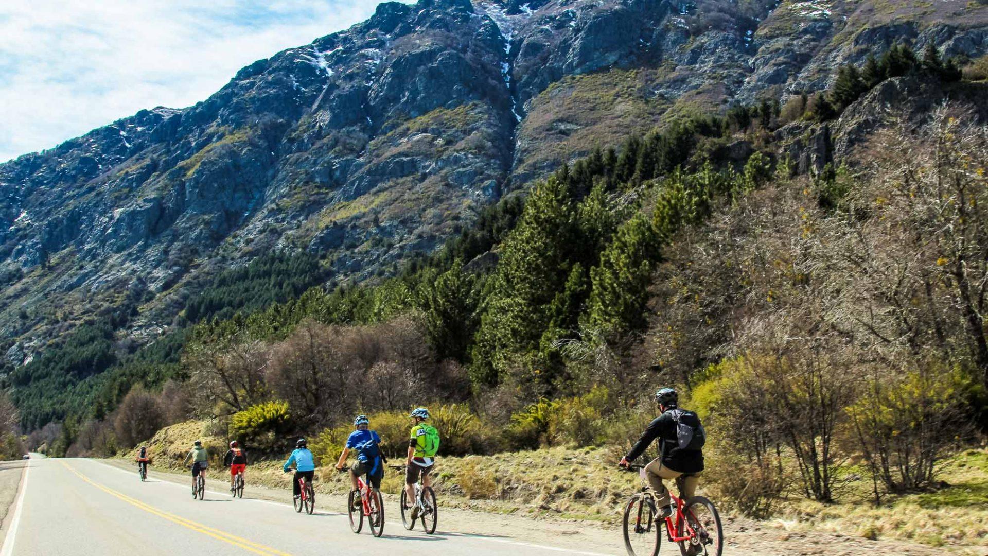 Cycling in San Martin de los Andes, Argentina.