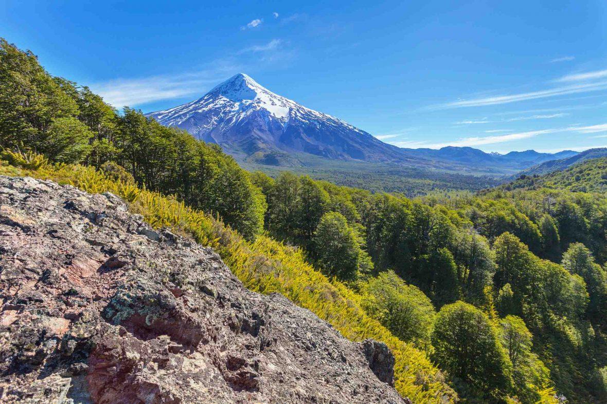 Volcano Lanin in San Martin de los Andes, Argentina.