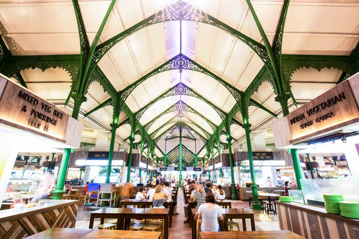 Singapore's Lau Pa Sat, built in the 19th century, has operated as a hawker market since 1973.