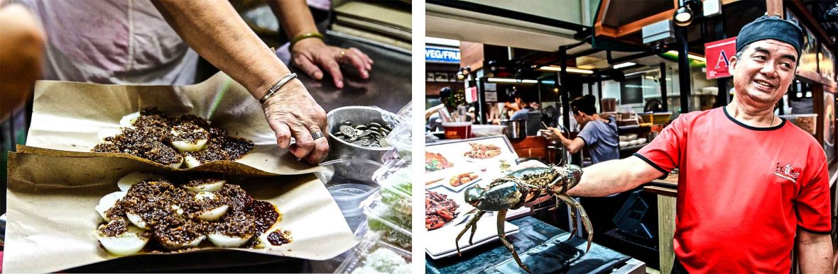 The local food at Singapore's hawkers' centers does not disappoint.