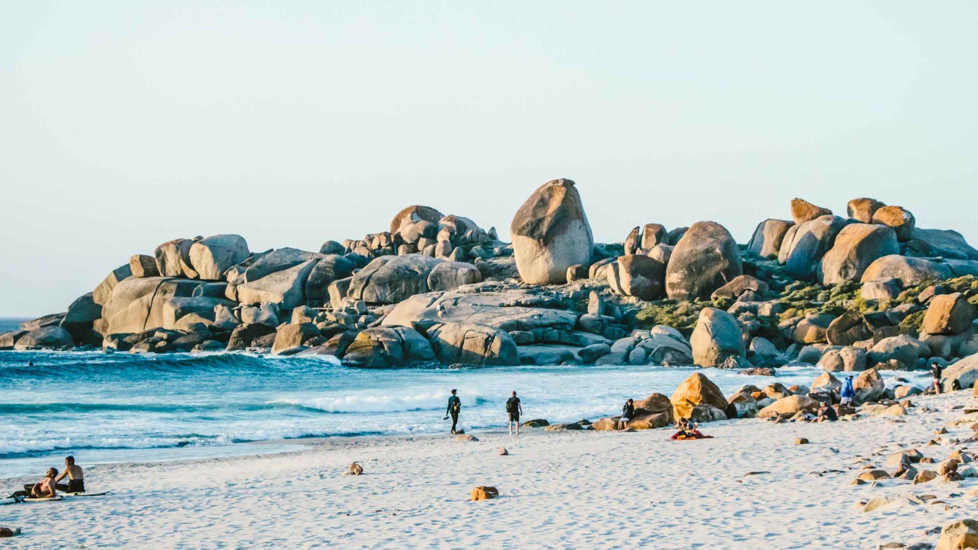 The beach at Llandudno, Cape Town, South Africa.