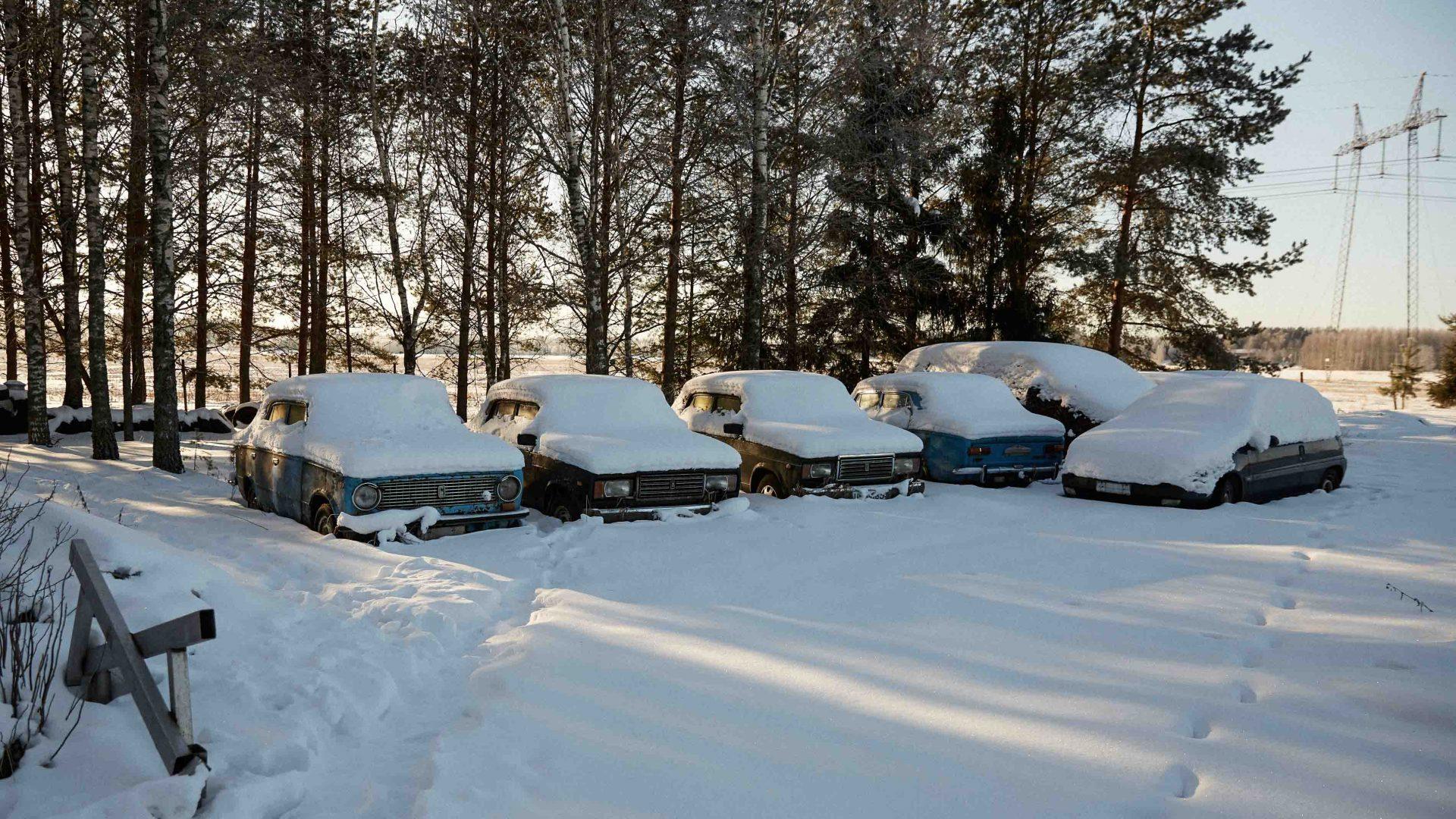 Sirppi's Lada graveyard.