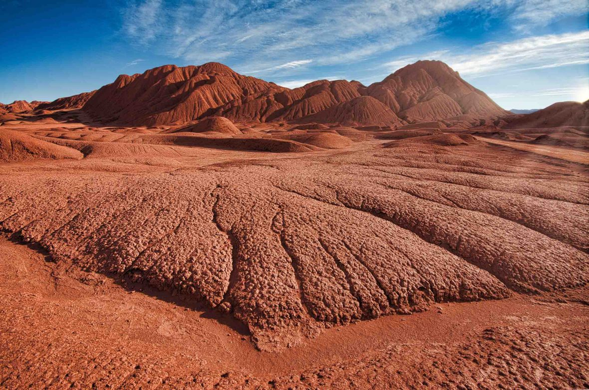 The red earth of Salta, Argentina.