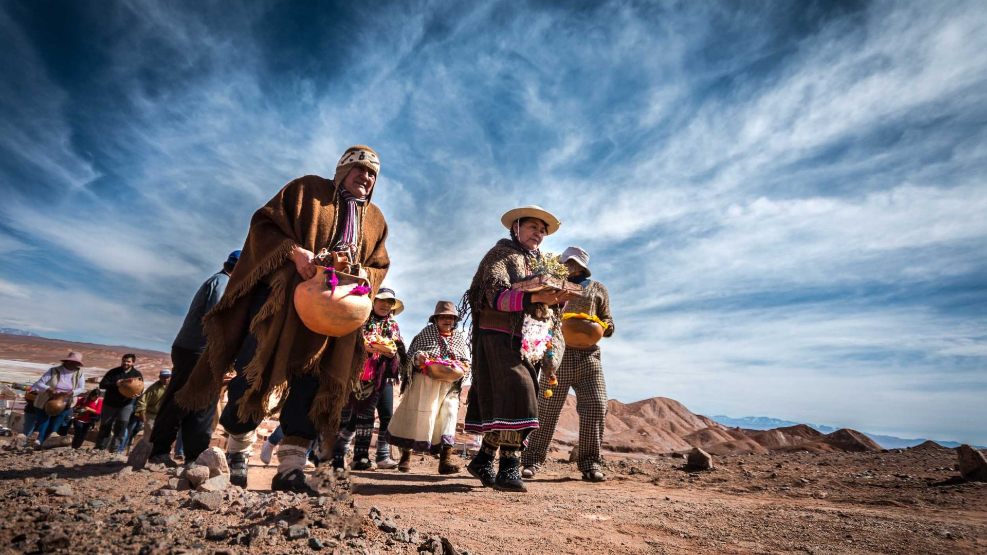 Locals bring offerings to goddess Pachamama, or Mother Earth, in Salta, Argentina.