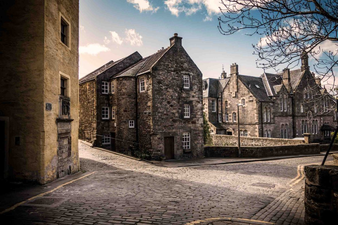 A street in Edinburgh, Scotland.
