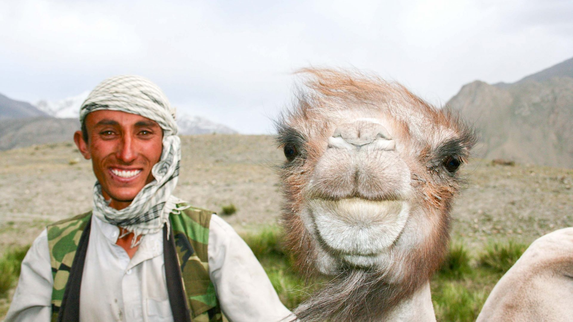 A man and his camel in the Wakhan, Afghanistan.