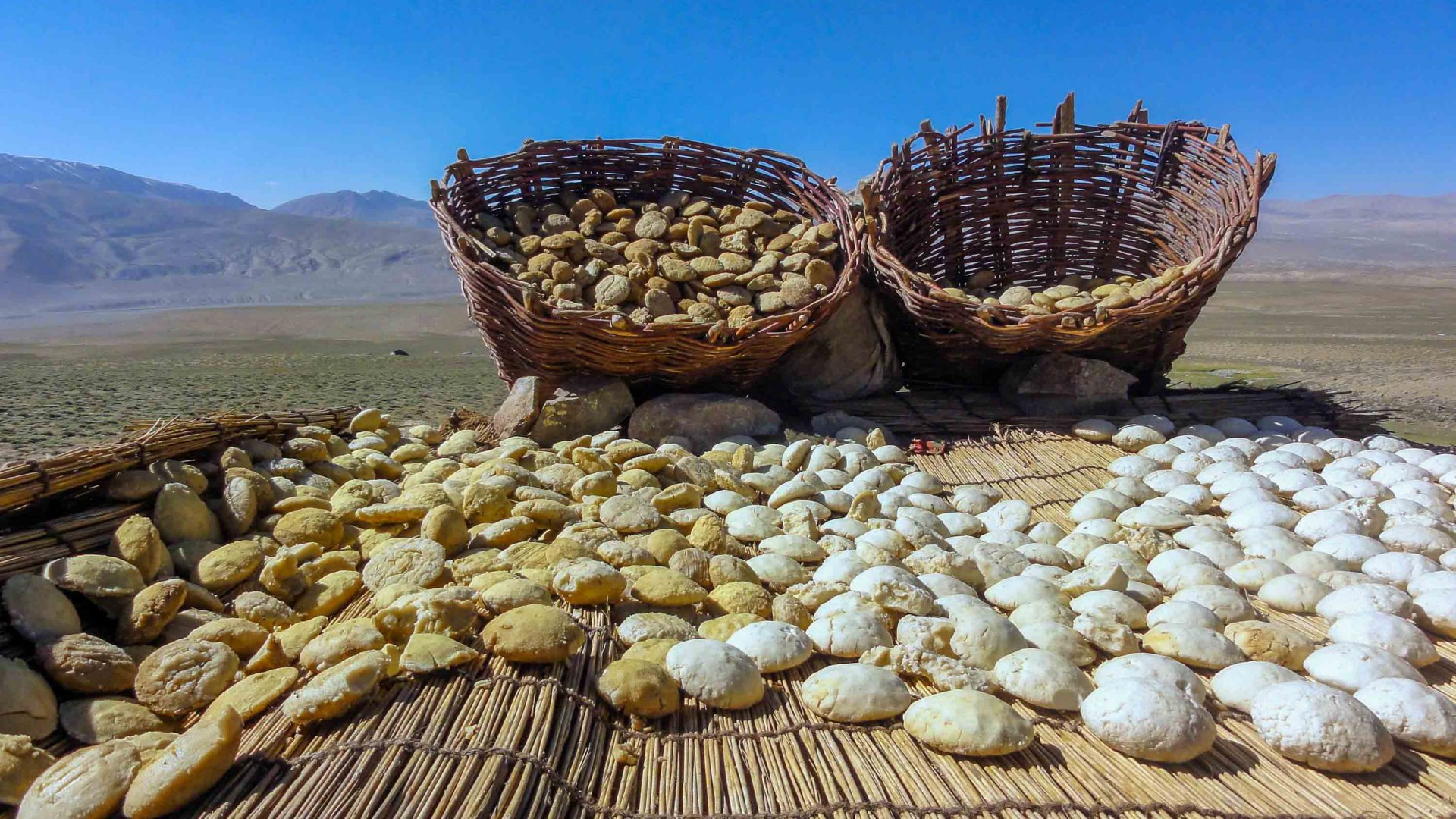 Leavened bread is a staple in the Wakhan, Afghanistan.