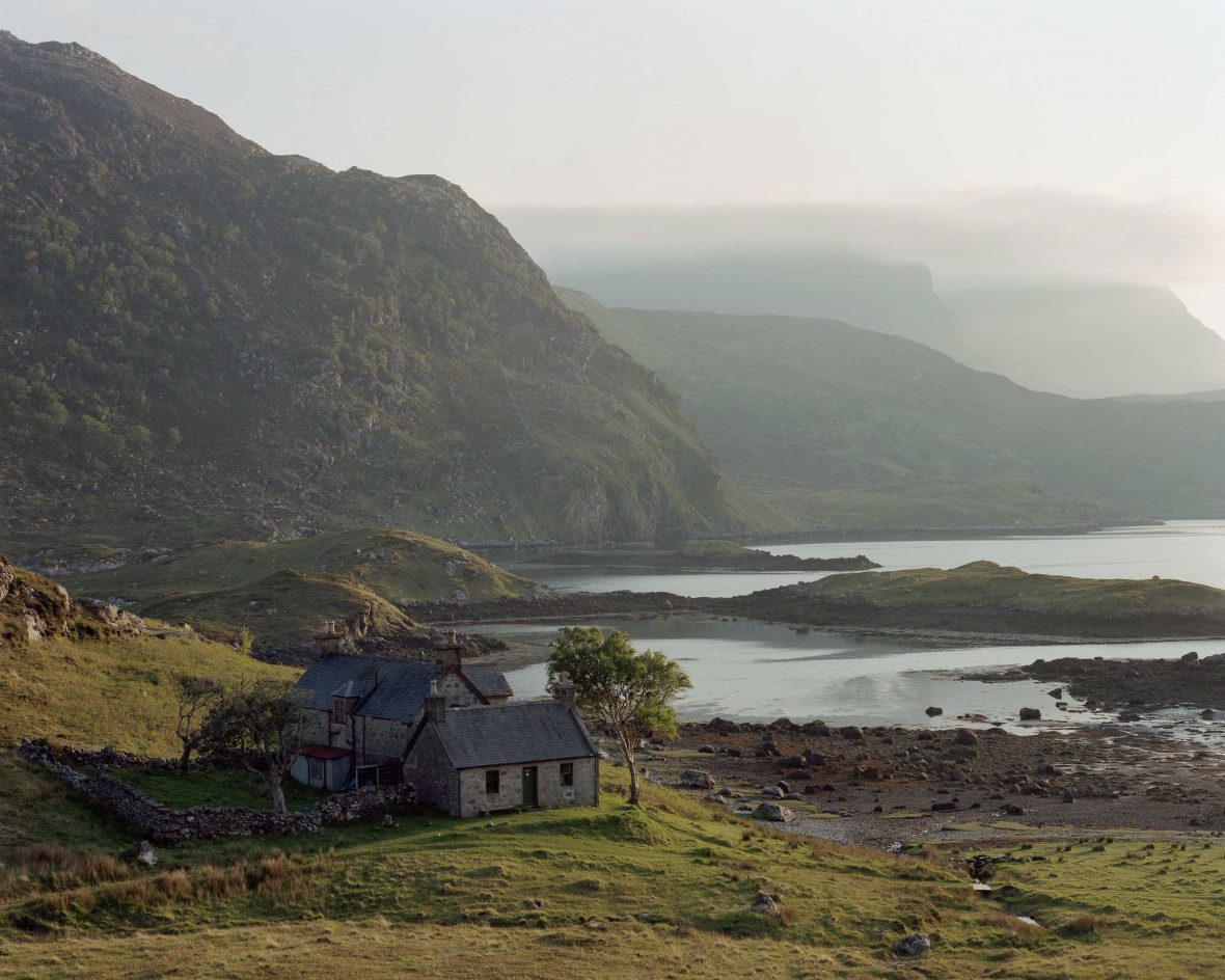 A bothy in Glencoul, Northern Highlands, Scotland.