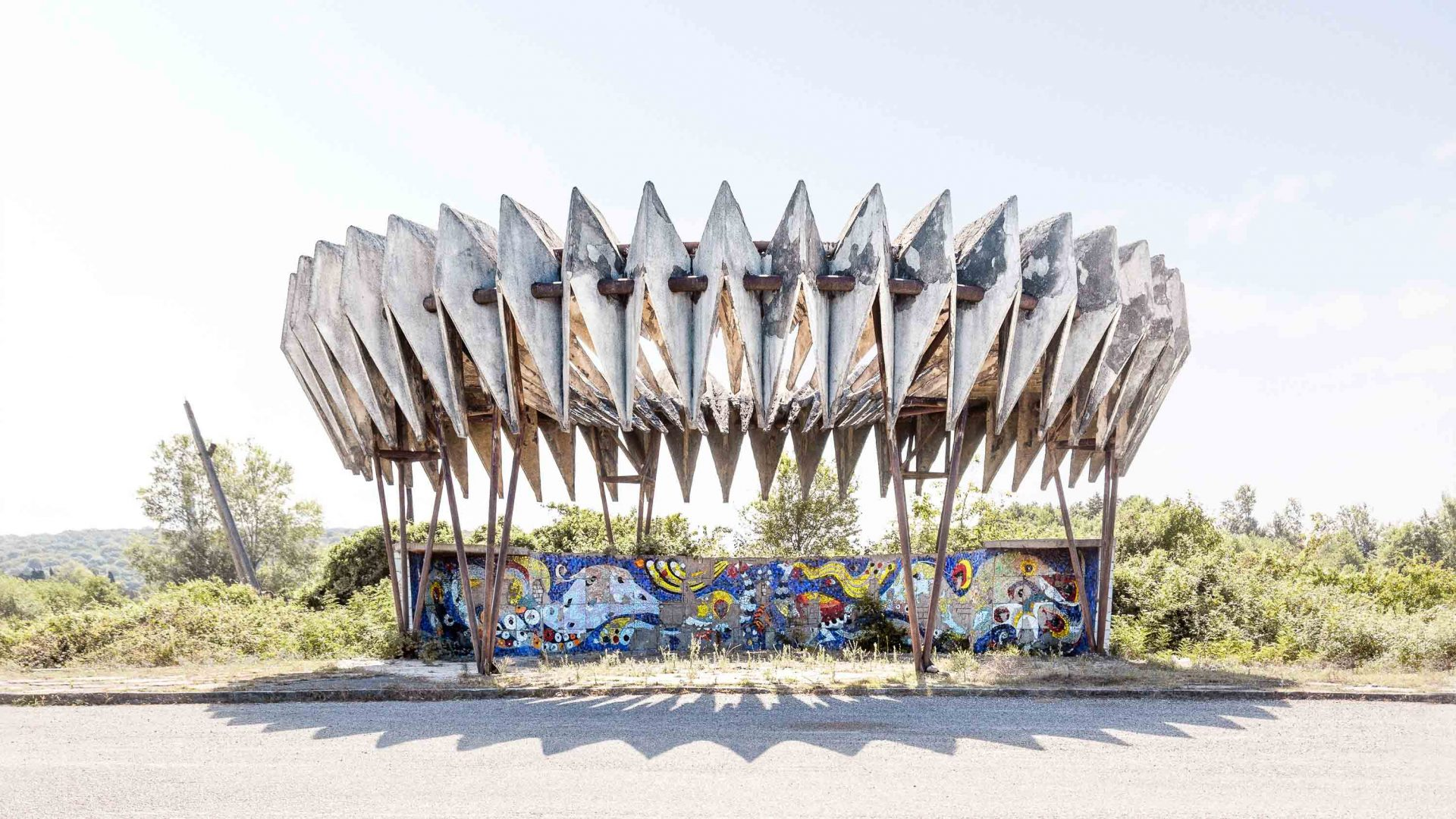 Photographing the brutally beautiful bus stops of the former Soviet Union