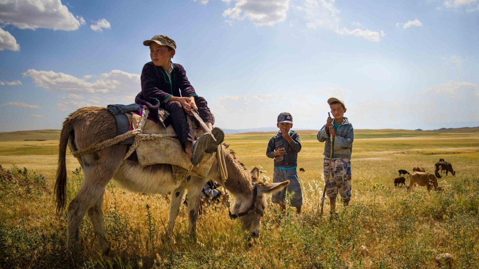 Young shepherds, Baysun, Uzbekistan