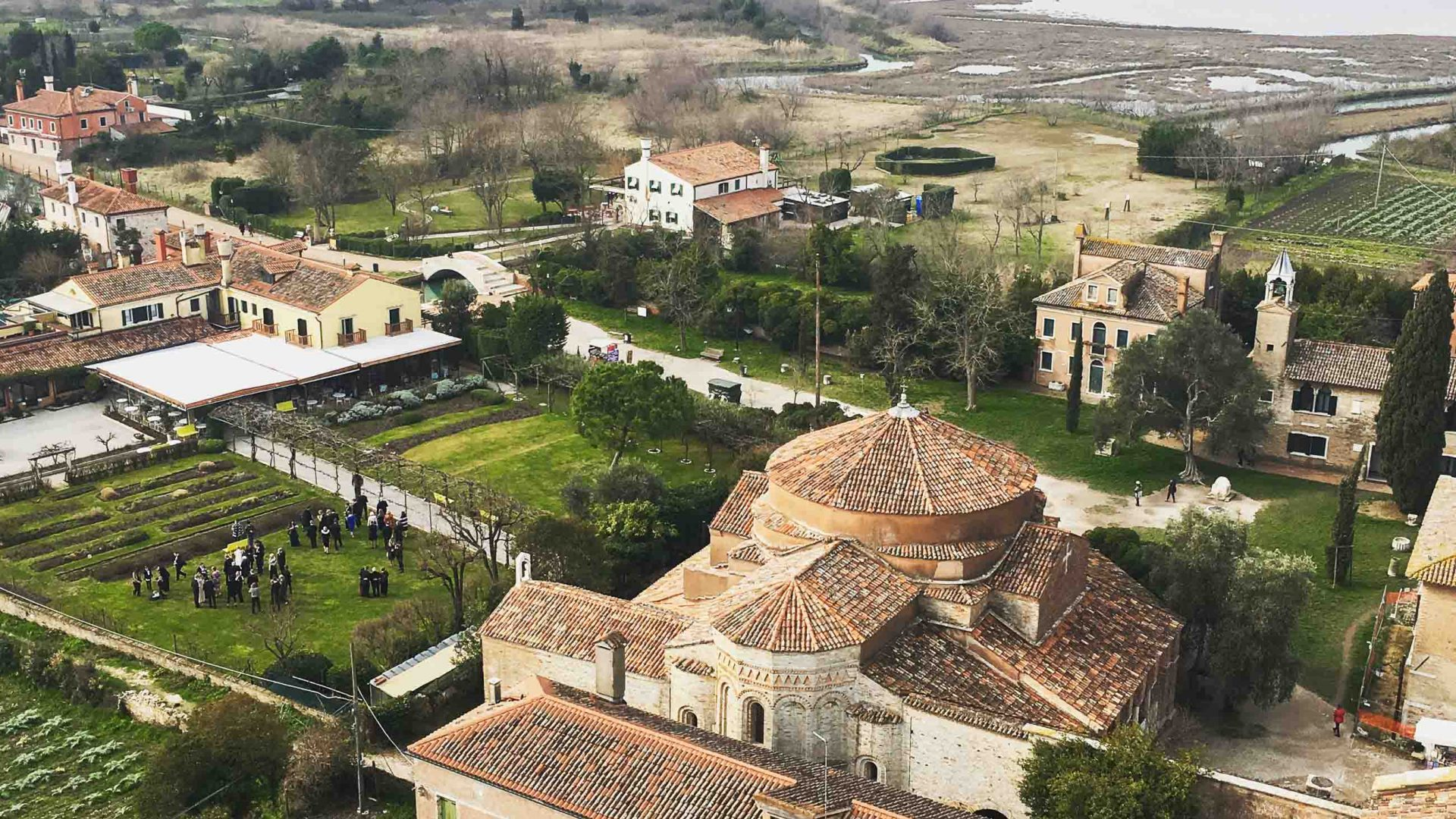 View from the bell tower on Torcello island, Venice.