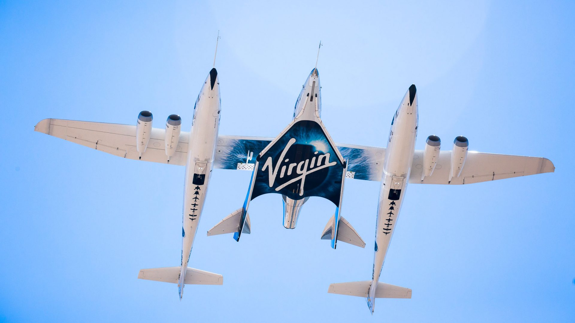 Virgin Galactic aircraft take to the skies.