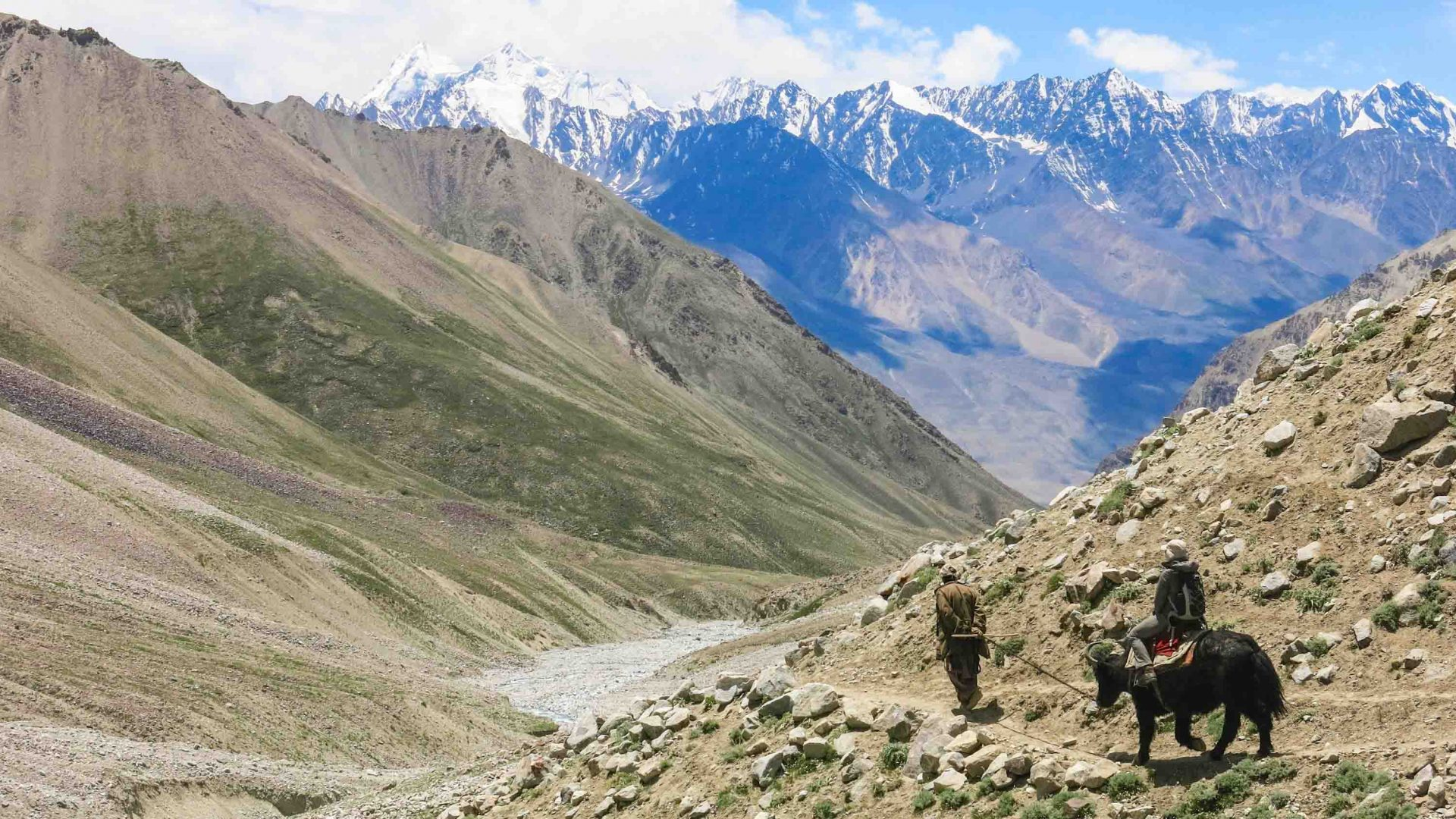 A local Wakhi man makes his way through the ancient trade route of the Pamir Mountains.