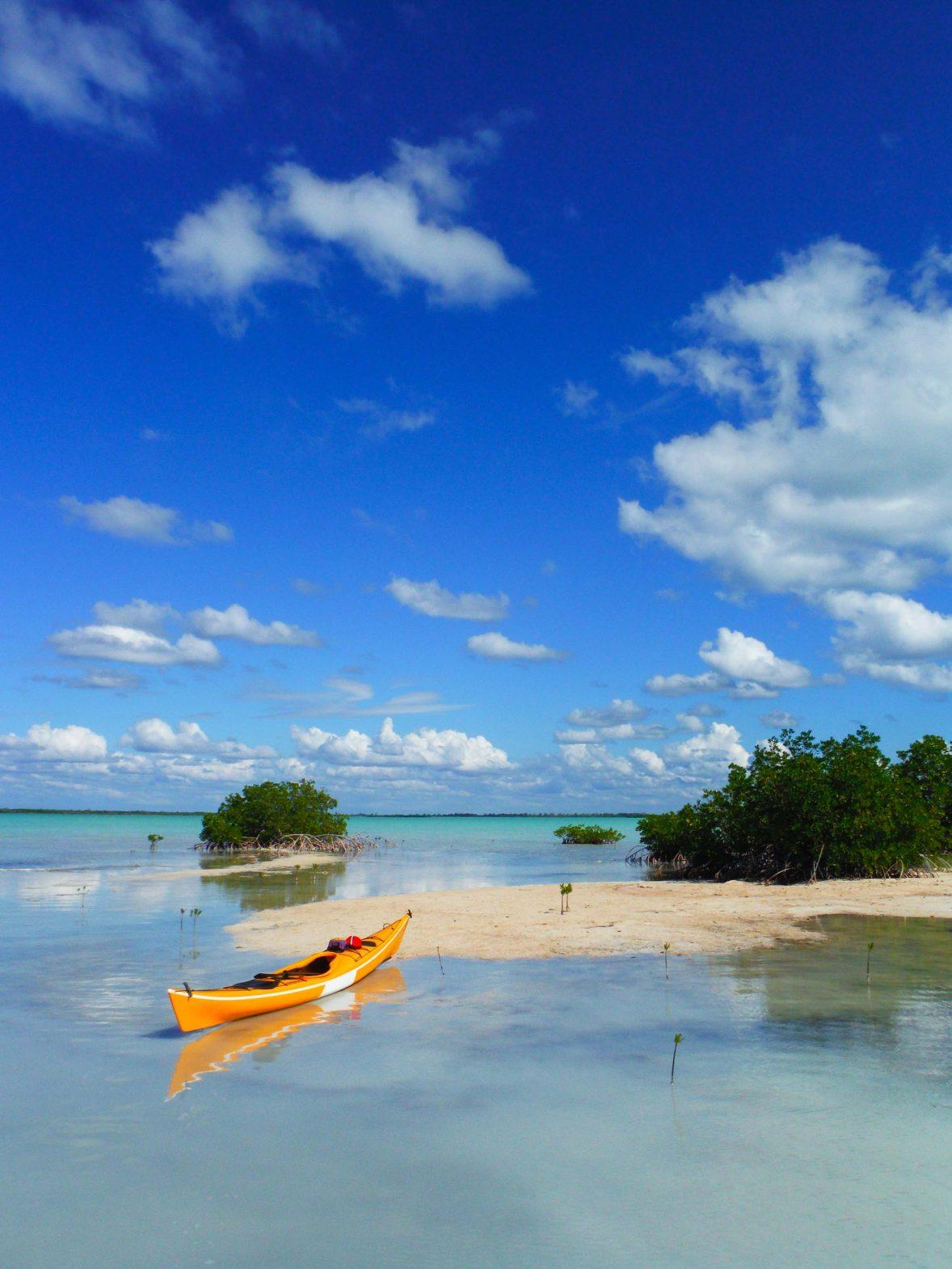 Kayaking in Cuba.