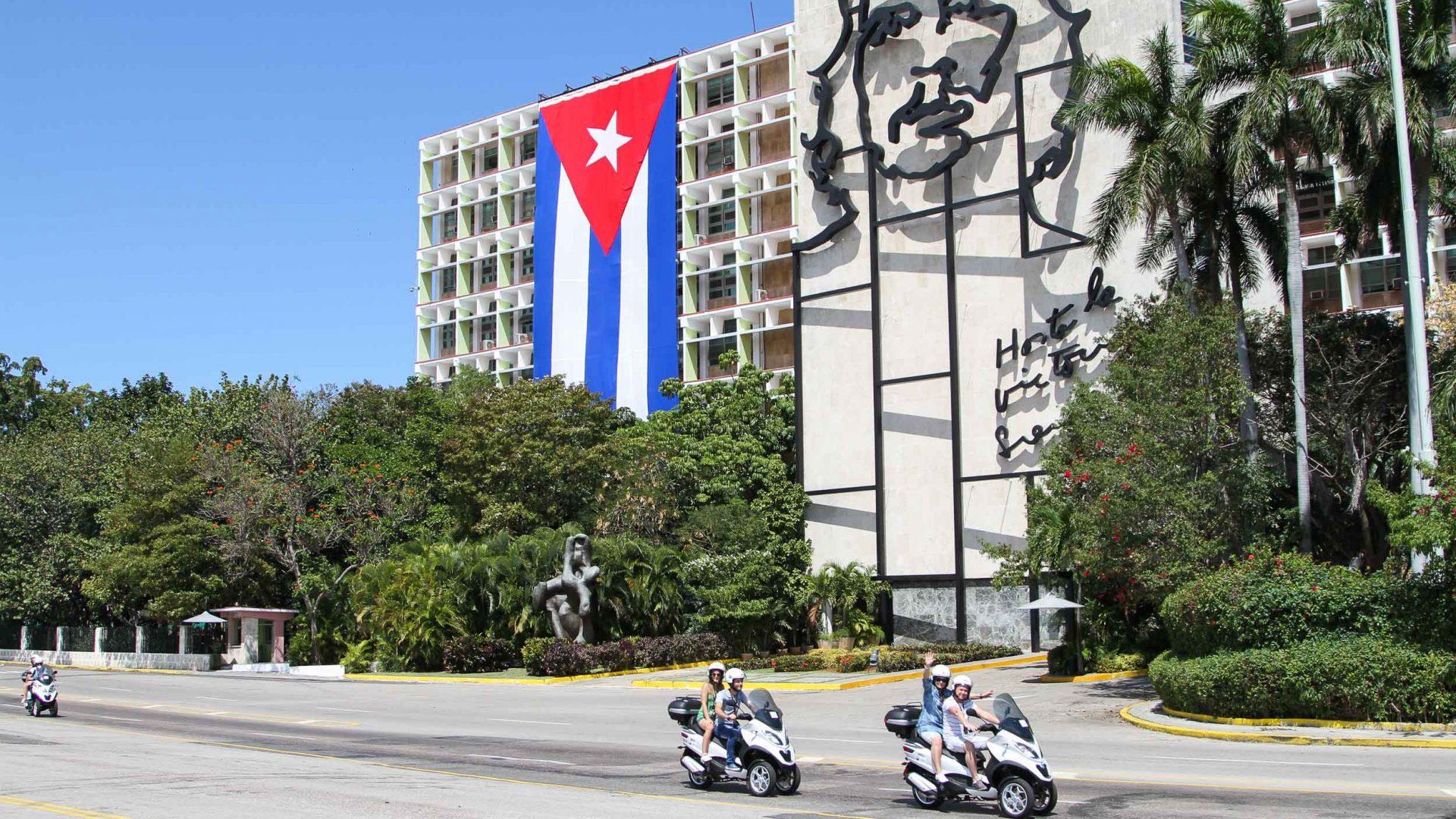 Scooters in Havana.