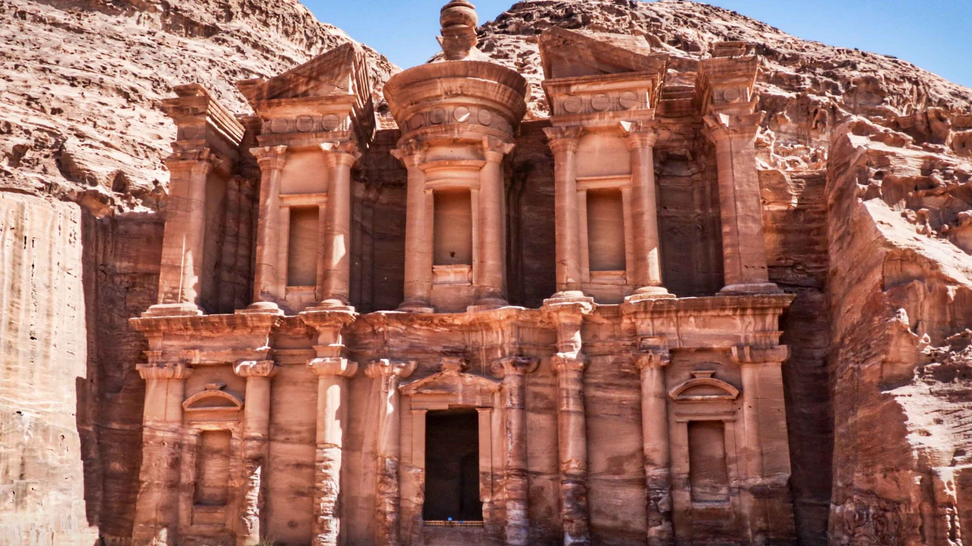 The monastery at Petra, Jordan.