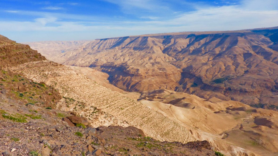 The Jordan Trail, a new hiking route that winds its way from Umm Qais in the north to Aqaba on the shores of the Red Sea.