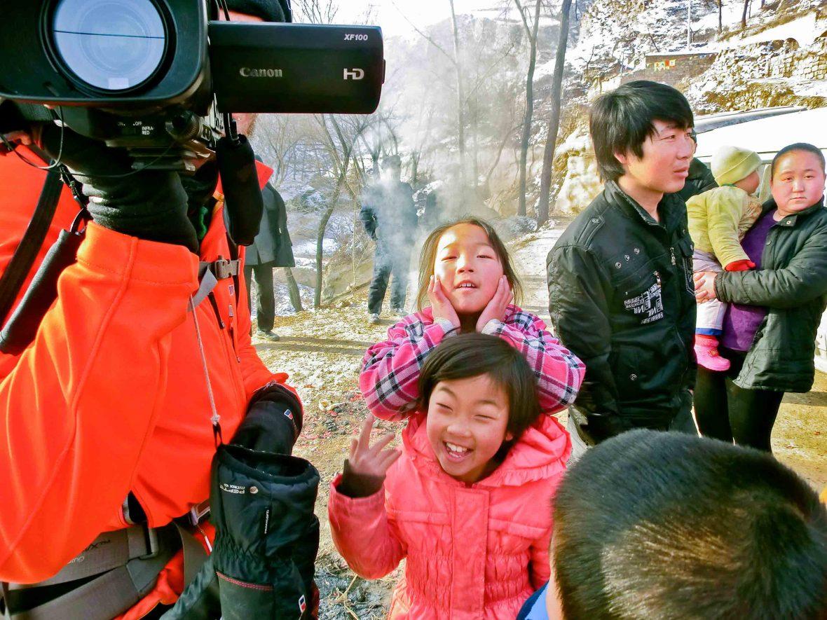 Leon McCarron filming in remote China.