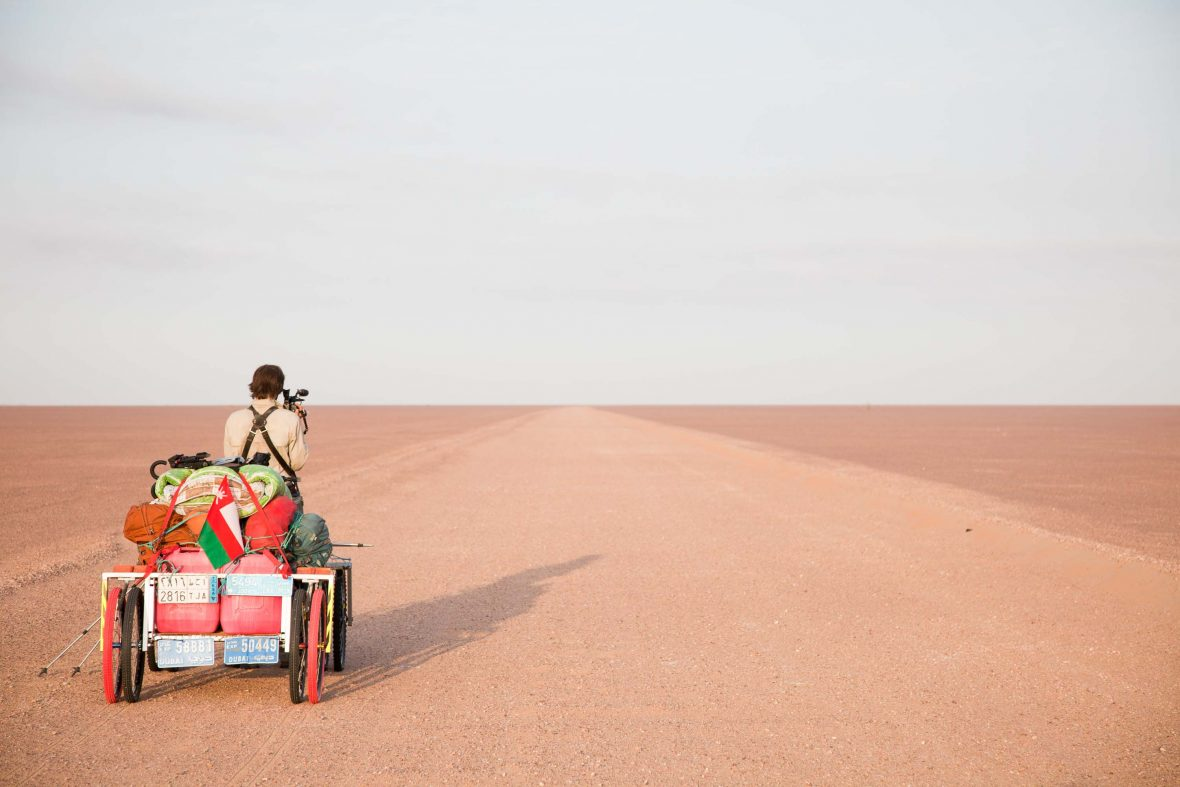 Filming in the midst of the vast Empty Quarter, the world's largest sand desert.