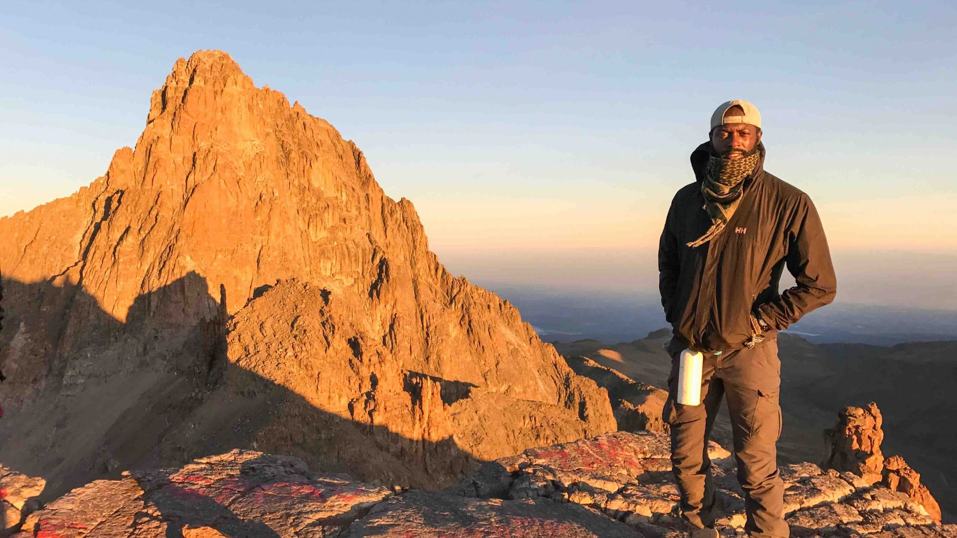 Mario Rigby at Mount Kenya.
