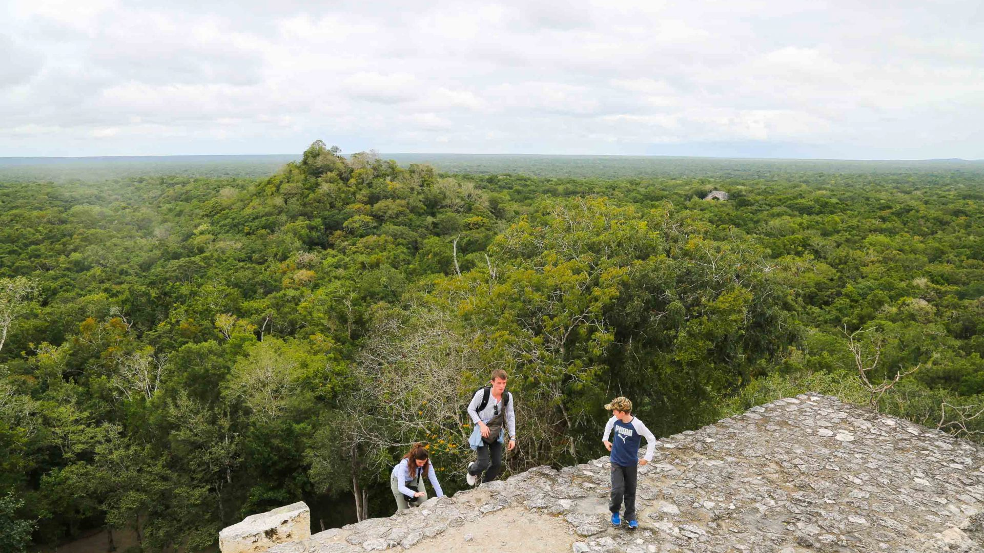 Ruins of Calakmul in the Yucatán Peninsula, Mexico.