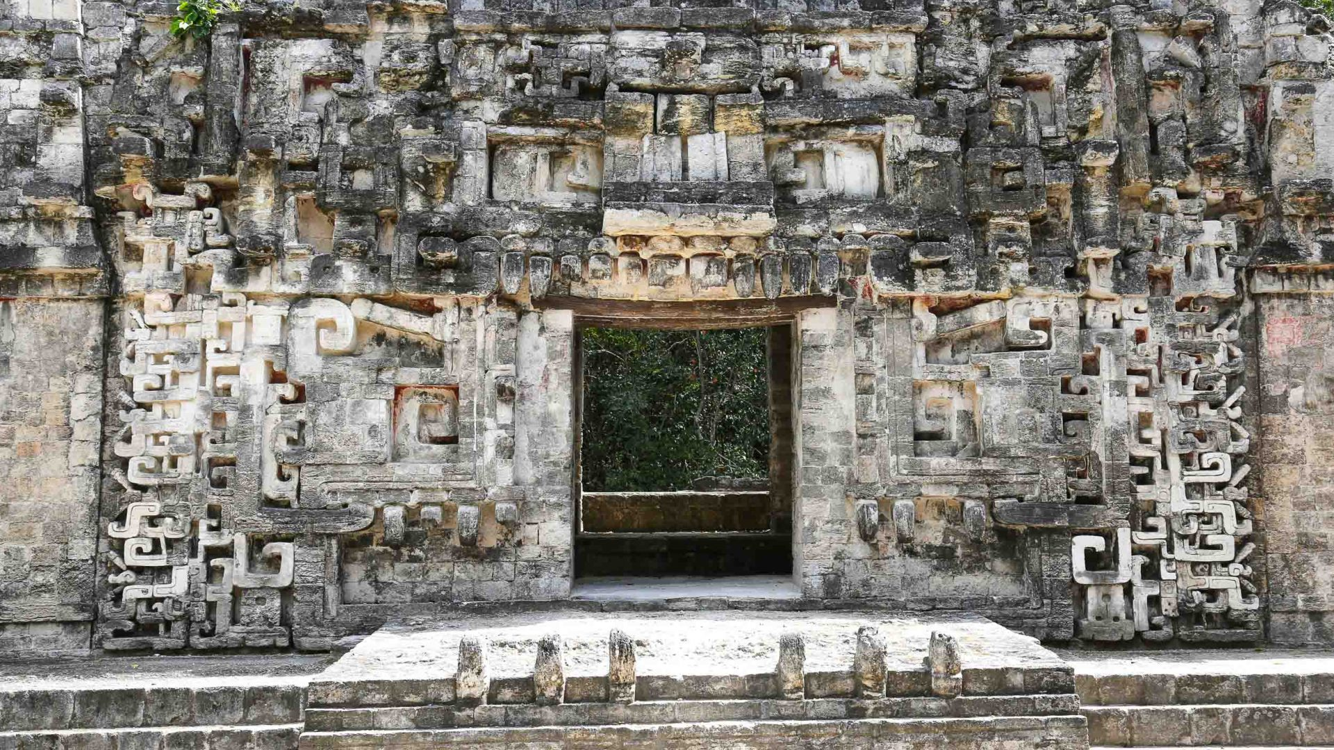Ruins of Chicanna in the Yucatán Peninsula, Mexico.