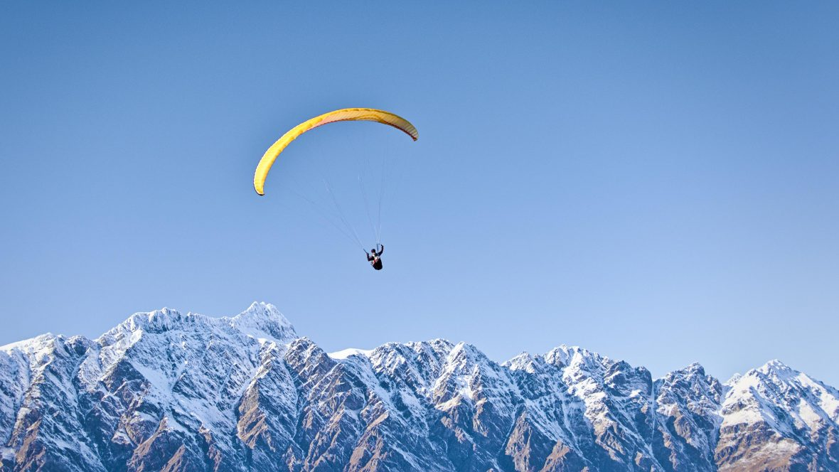 Paragliding in Queenstown, New Zealand.