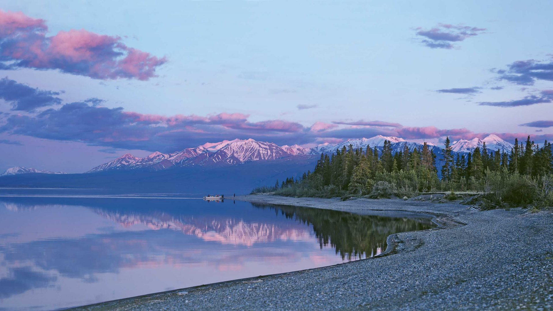 Kluane Lake in the Yukon.