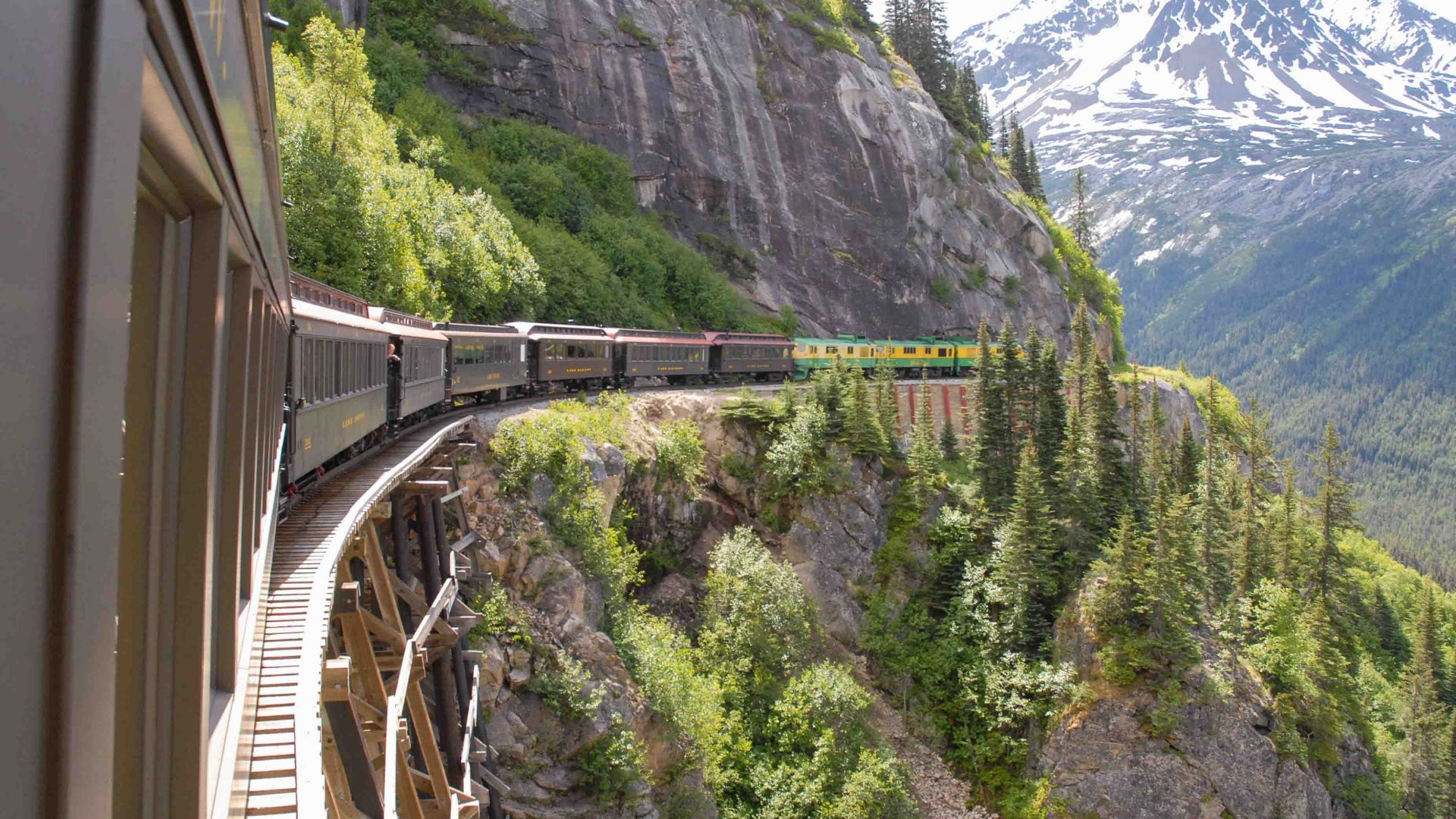 White Pass & Yukon Railroad in the Yukon.