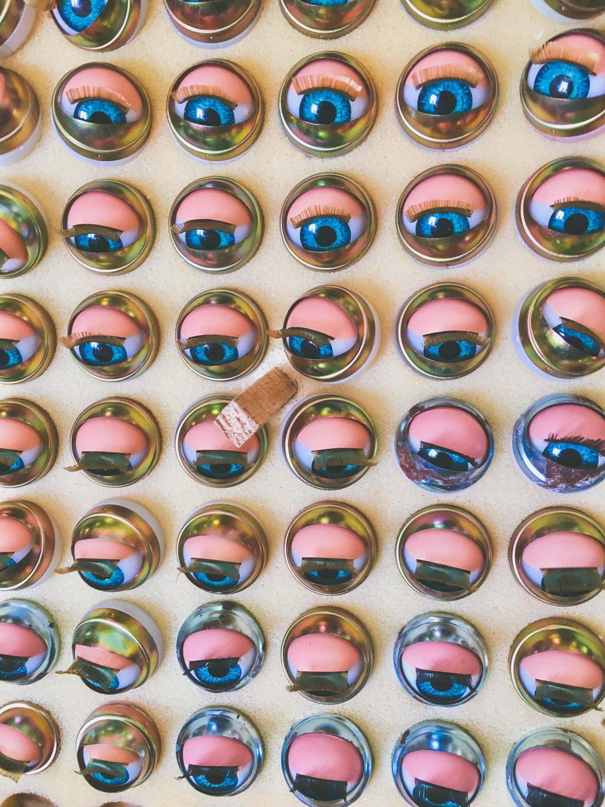 Doll eyes ready to be transplanted at Hospital de Bonecas (doll hospital), in Lisbon, Portugal.
