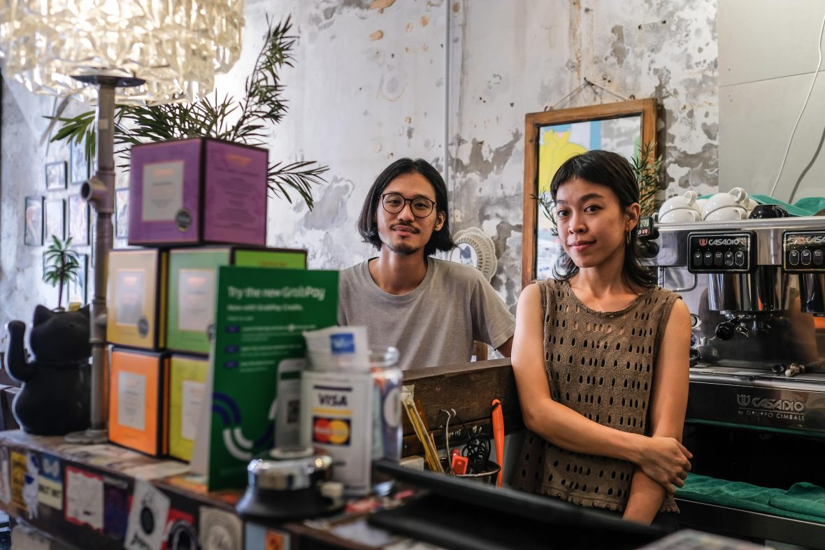 Alvin Neoh (left) and Jaime Oon (right), owners of George Town bar and creative space, Narrow Marrow.
