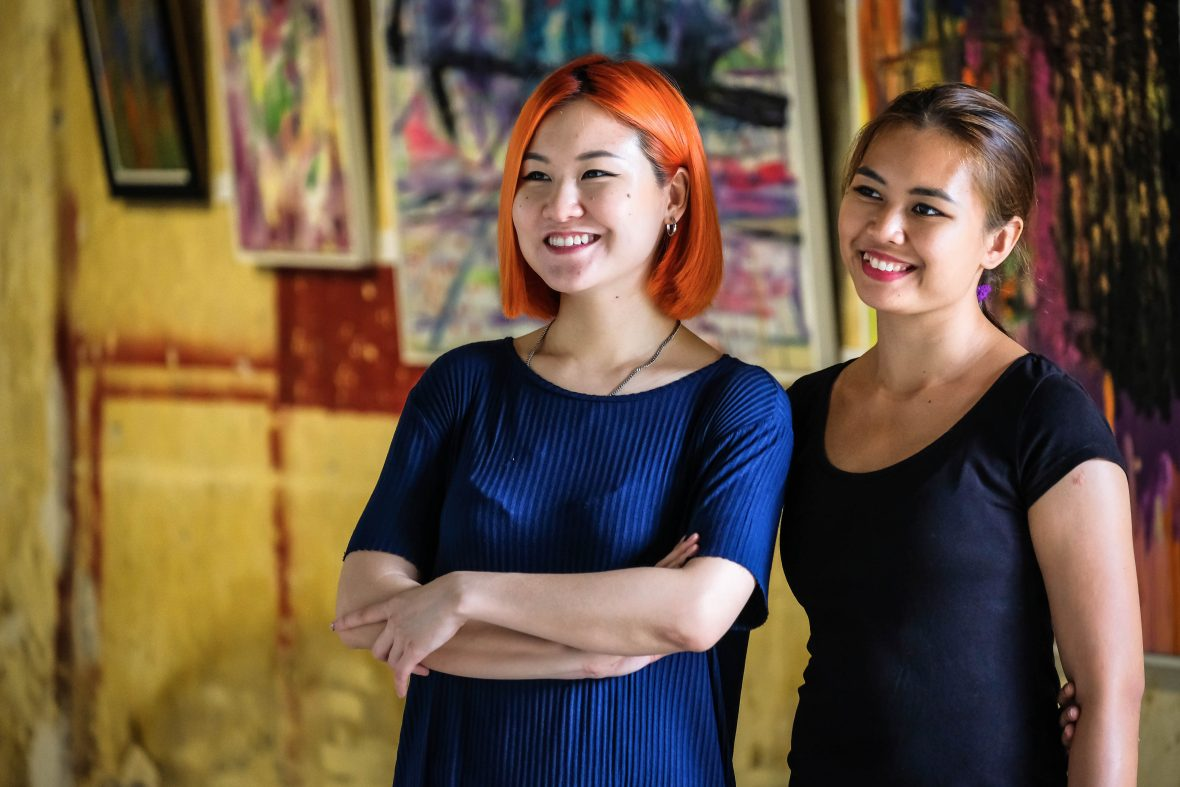 Khing Chuah (left) and Wanida Razali (right), run George Town's excellent open-air events space and art gallery, Hin Bus Depot.