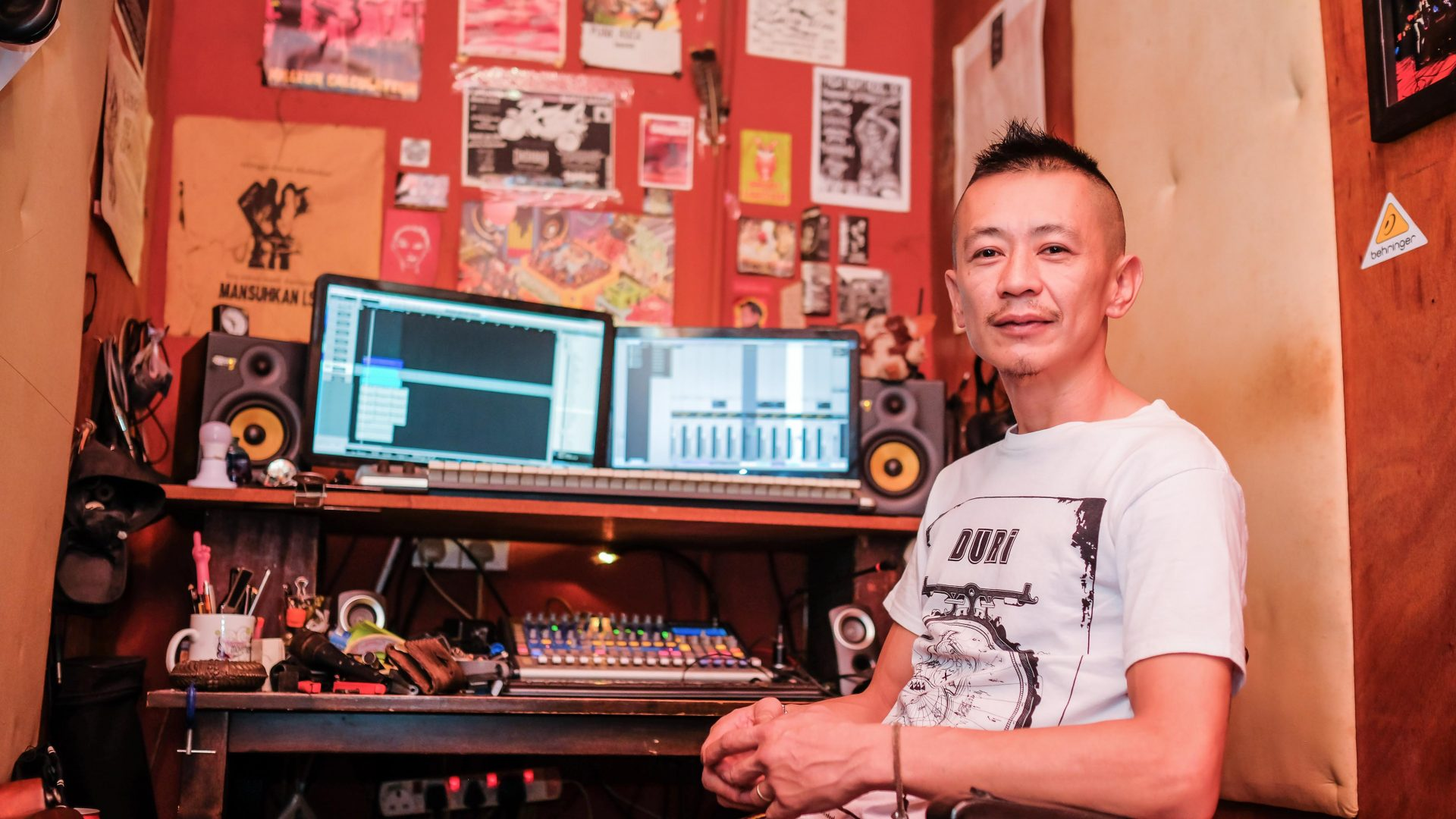 Cole Yew, sound engineer and manager of Soundmaker, George Town's most important underground music venue.